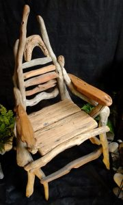 Chair made from driftwood by Nigel Peterken