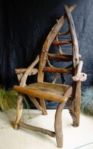 Driftwood Storytellers chair, by Nigel Peterken