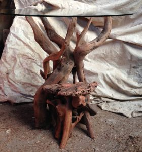 Driftwood Side table, driftwood consort table