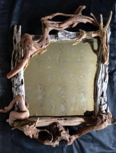 Large driftwood mirror By Nigel Peterken