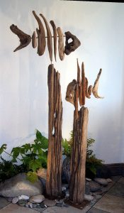 Driftwood Fish pair by N Peterken